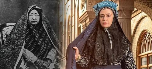 اولین تصویر از مریلا زارعی در نقش مهدعلیا مادر ناصرالدین شاه