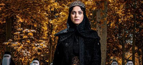 غزل شاکری در نقش خواهر ناصرالدین شاه در سریال جیران