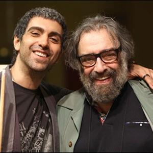 پولاد کیمیایی و مسعود کیمیایی در پشت صحنه فیلم «متروپل»