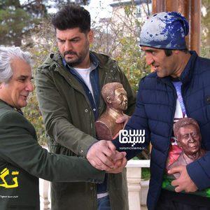 سام درخشانی، مهدی هاشمی و پژمان جمشیدی در فیلم «تگزاس 2»