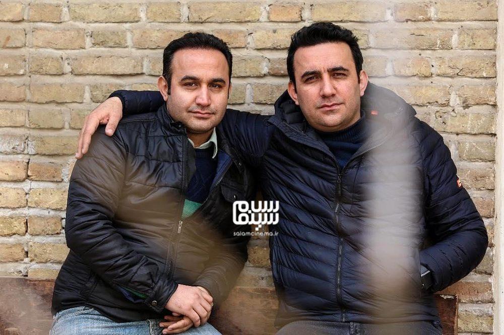 نوید محمودی و جمشید محمودی در پشت صحنه سریال «دلدار»