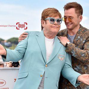 التون جان و تارون اجرتون در فتوکال فیلم سینمایی راکت من در جشنواره کن 2019