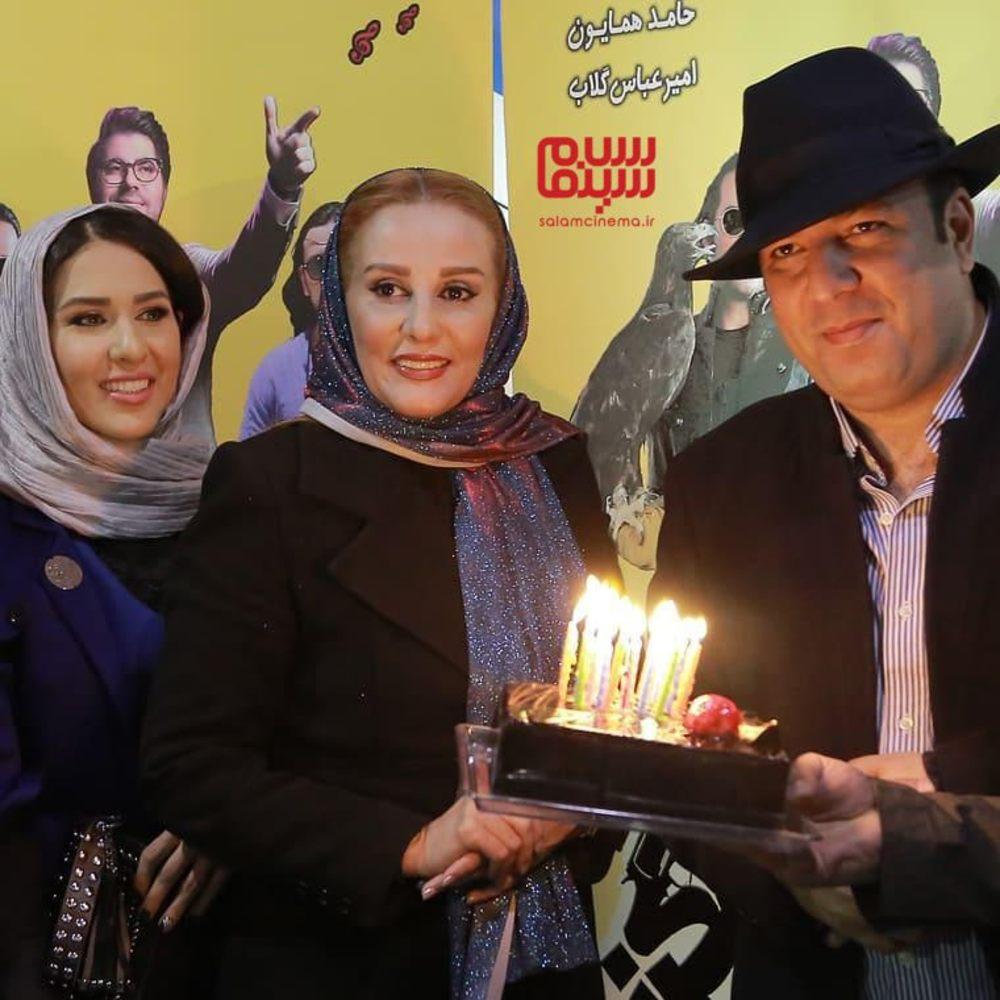 علی اوجی، پادینا رهنما و شیوا خسرومهر در اکران مردمی فیلم «ماموریت غیرممکن»