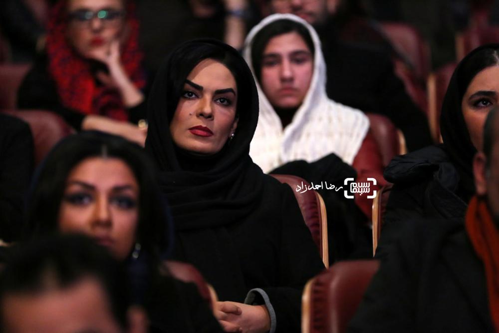 سارا خوئینی ها بازیگر فیلم «ماه گرفتگی» در افتتاحیه سی و پنجمین جشنواره فیلم فجر