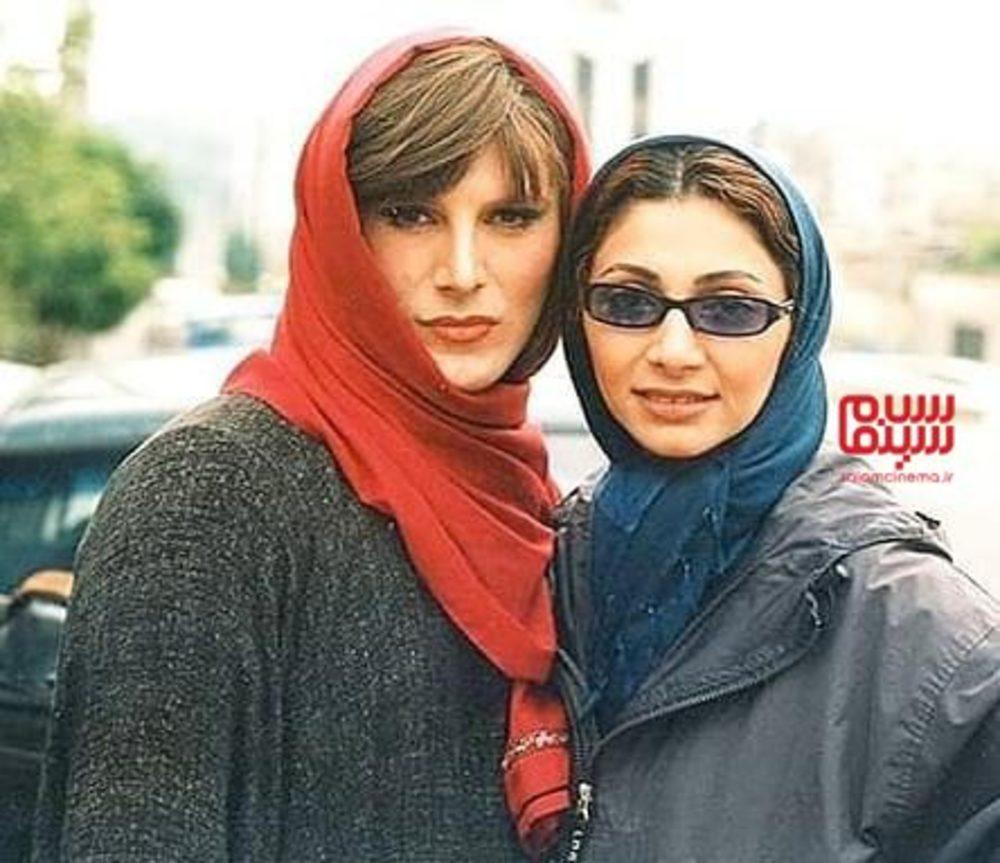 امین حیایی و همسرش نیلوفر خوش خلق در پشت صحنه فیلم «مزاحم»