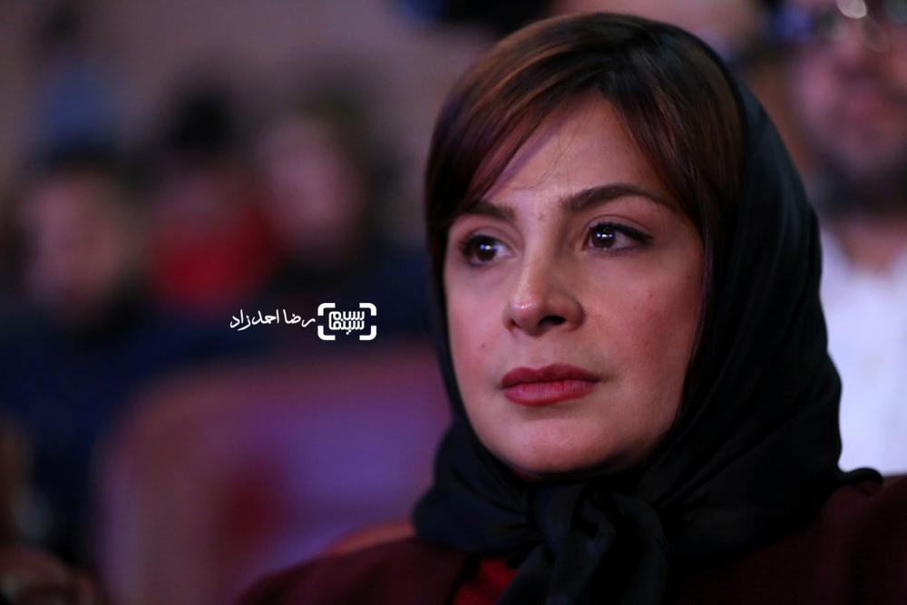 سیما تیرانداز بازیگر «ماجان» در افتتاحیه سی و پنجمین جشنواره فیلم فجر