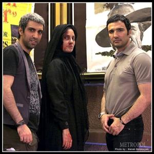 محمدرضا فروتن، پولاد کیمیایی و مهناز افشار در نمایی از فیلم «متروپل»