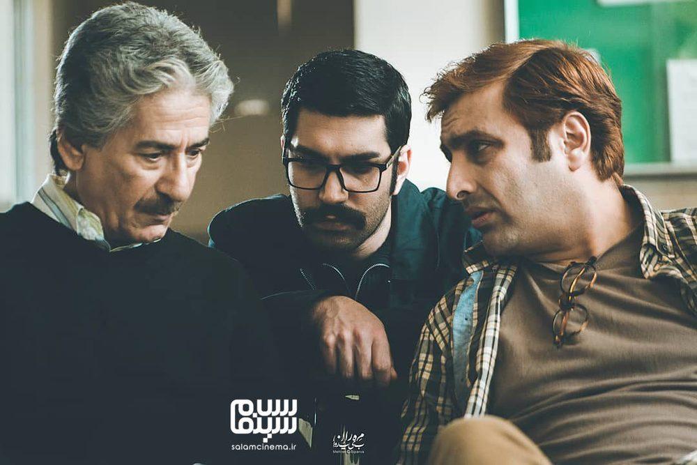 امین زندگانی، ارسطو خوش رزم و بهرام شاه محمدلو در سریال «خانواده دکتر ماهان»