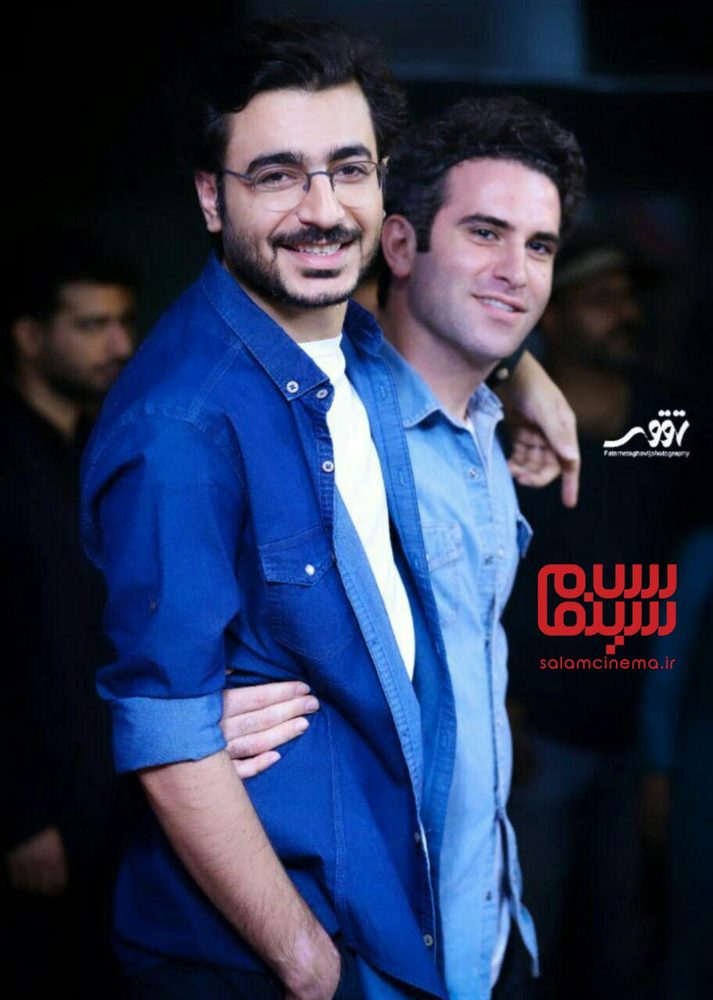 آرمین رحیمیان و هوتن شکیبا در اکران مردمی فیلم «شبی که ماه کامل شد» در سینما آزادی