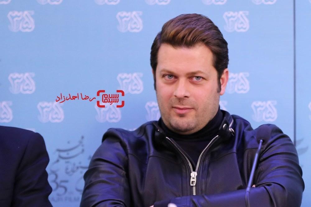 پژمان بازغی در نشست خبری فیلم «خانه دیگری» در جشنواره فیلم فجر35