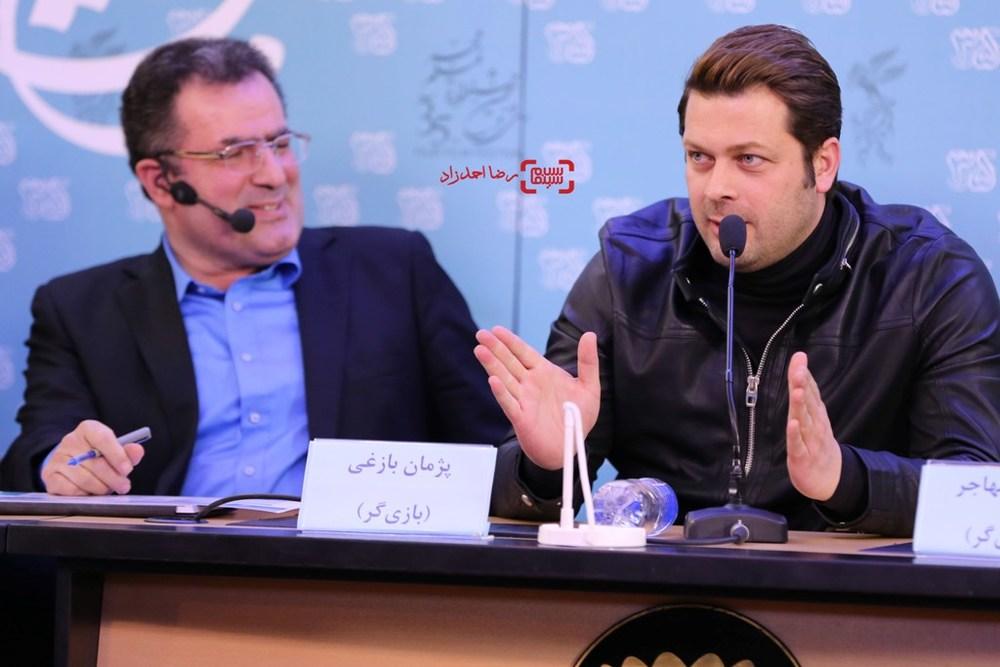 پژمان بازغی در نشست خبری «خانه دیگری» در جشنواره فیلم فجر35