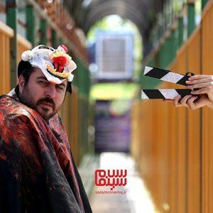 محسن کیایی در پشت صحنه فیلم «بی صدا حلزون»