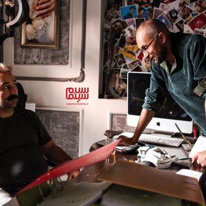 بهرنگ دزفولیزاده و مهران احمدی در پشت صحنه فیلم «بی صدا حلزون»