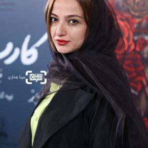 ندا جبرائیلی در اکران خصوصی فیلم «کارت پرواز» در سینما چارسو