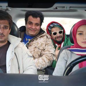 سحر قریشی، میرطاهر مظلومی، علی صادقی و یوسف تیموری در فیلم «ایکس لارج»