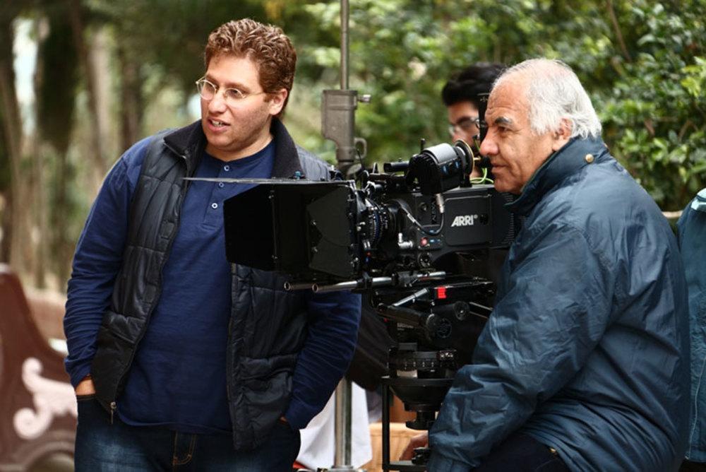 مرتضی پورصمدی و راما قویدل در پشت صحنه فیلم چاقی