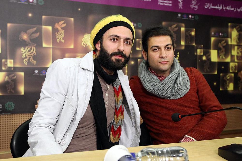 حسام محمودی و فرزاد باقری در نشست خبری فیلم سینمایی «خسته نباشید!»