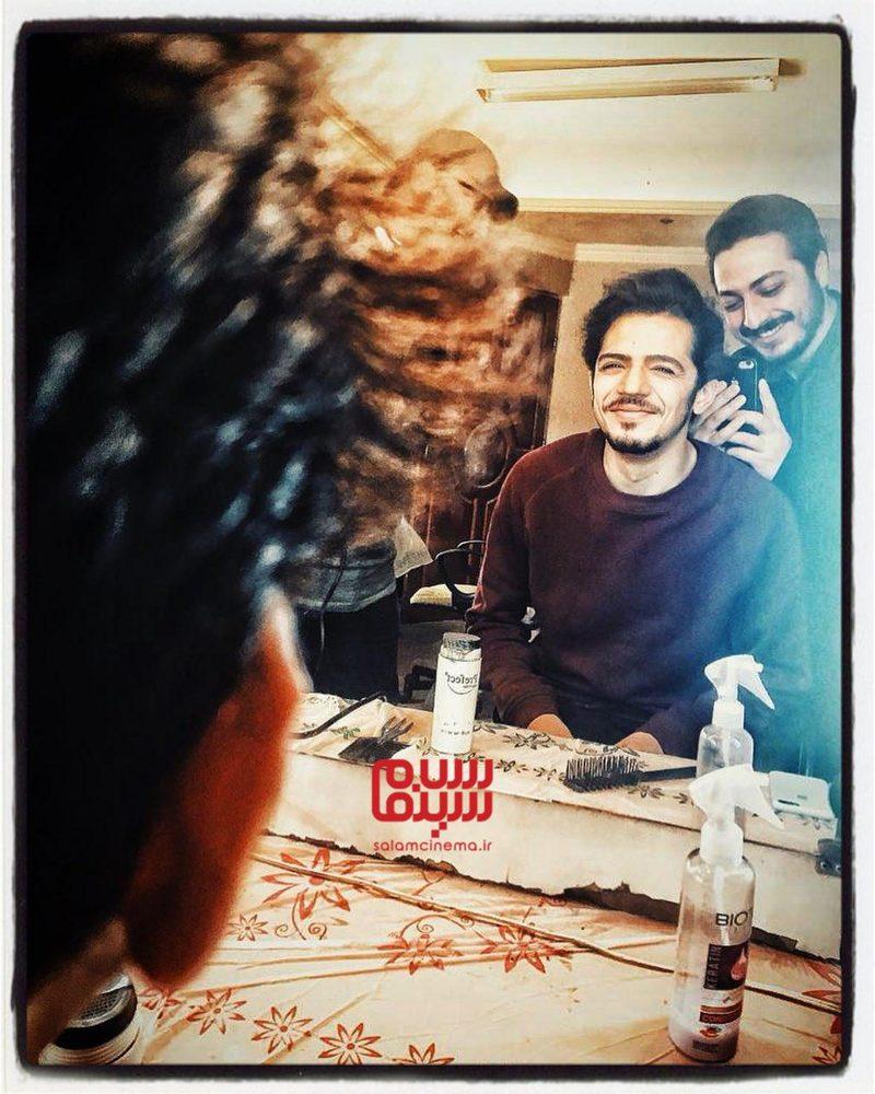 مجید نوروزی و عرفان ابراهیمی در پشت صحنه سریال «گاندو»