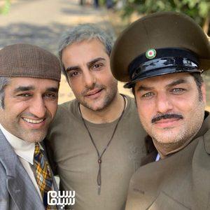 پژمان جمشیدی، سام درخشانی و حامد کمیلی در پشت صحنه فیلم «خوب بد جلف 2: ارتش سری»