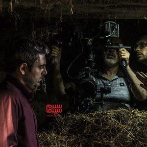 محمدرضا رهبری، علی فخر موسوی و امیر معقولی در پشت صحنه فیلم «سرزمین آبی»