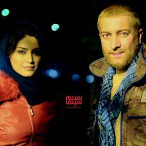 مجید صالحی و آذر فرامرزی در پشت صحنه فیلم «بعد از ظهر سگی»