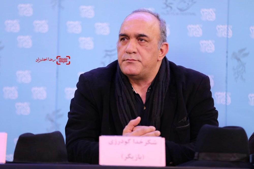 شکرخدا گودرزی در اکران فیلم «آزاد به قید شرط» در سی و پنجمین جشنواره فیلم فجر