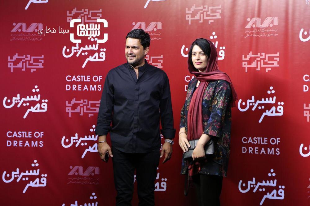 حامد بهداد و ژیلا شاهی در اکران خصوصی فیلم «قصر شیرین»