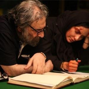 مهناز افشار و مسعود کیمیایی در نمایی از پشت صحنه فیلم «متروپل»