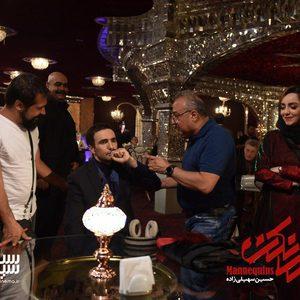 محمدرضا فروتن، حسین سهیلی زاده و نازنین بیاتی در پشت صحنه سریال «مانکن»