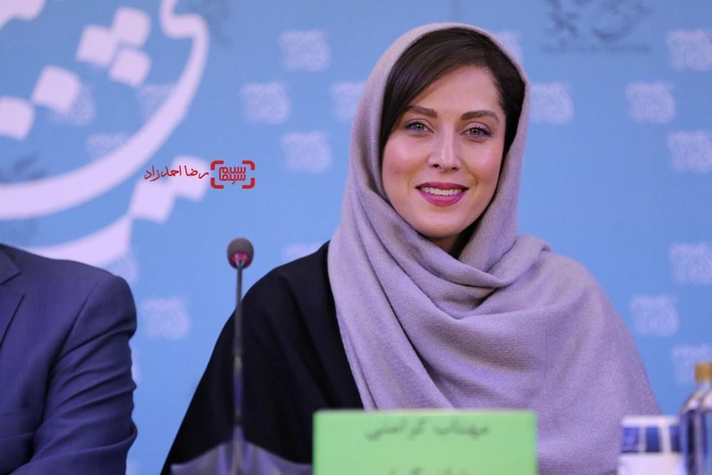 مهتاب کرامتی در نشست فیلم سینمایی «ماجان» در سی و پنجمین جشنواره فیلم فجر
