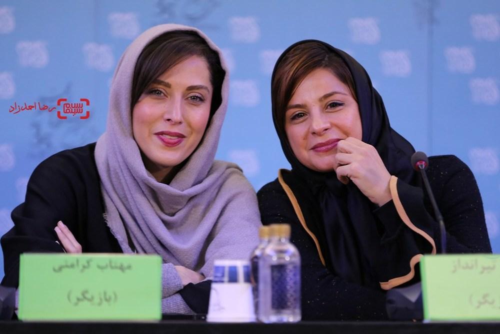 مهتاب کرامتی و سیما تیرانداز در نشست «ماجان» در جشنواره فیلم فجر35