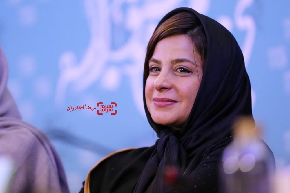 سیما تیرانداز در نشست «ماجان» در سی و پنجمین جشنواره فیلم فجر