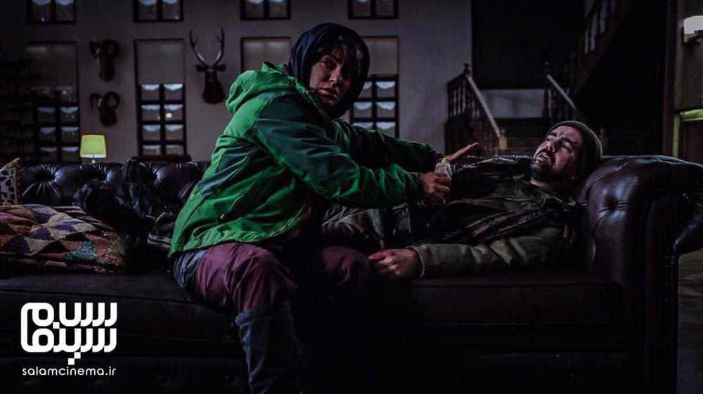 پیمان مقدمی و مهناز افشار در فیلم «شاه کش»