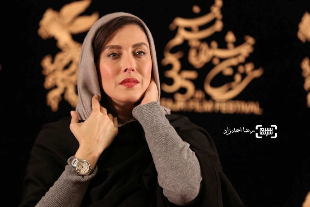 مهتاب کرامتی در اکران فیلم «ماجان» در جشنواره فیلم فجر35