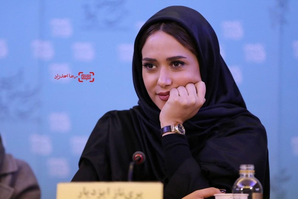 پریناز ایزدیار در نشست فیلم «ویلایی ها» در سی و پنجمین جشنواره فیلم فجر