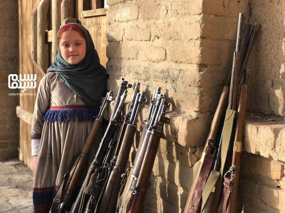عسل قرایی در پشت صحنه سریال «بانوی سردار»