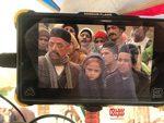 عسل قرایی، فرزین محدث و محمدپارسا قربانی در پشت صحنه سریال «بانوی سردار»
