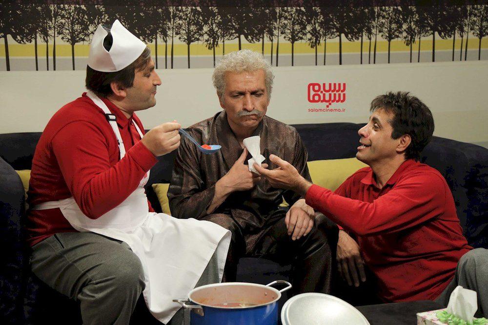 علی فروتن، محمد مسلمی و حمید گلی در نمایی از سریال تلویزیونی «دوقلوها»