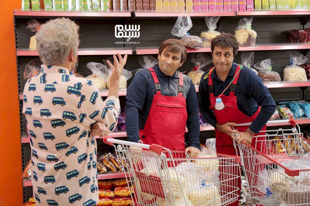علی فروتن و محمد مسلمی در سریال «دوقلوها»