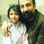 کیمیا حسینی و اصغر فرهادی در پشت صحنه فیلم «جدایی نادر از سیمین»
