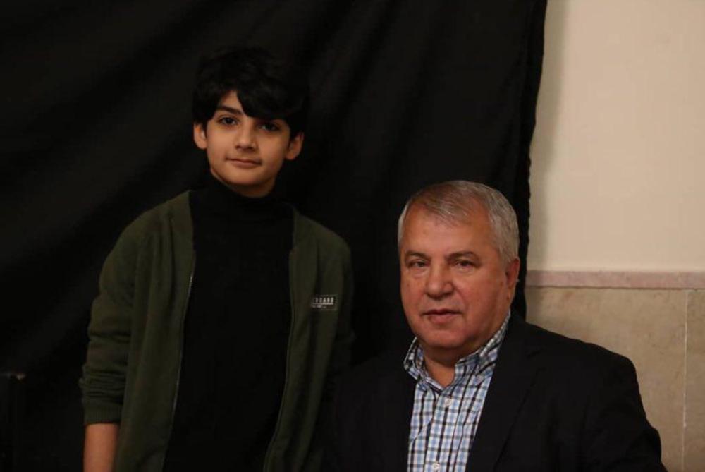 امیرکیان عبدی و علی پروین در پشت صحنه سریال «شش قهرمان و نصفی»