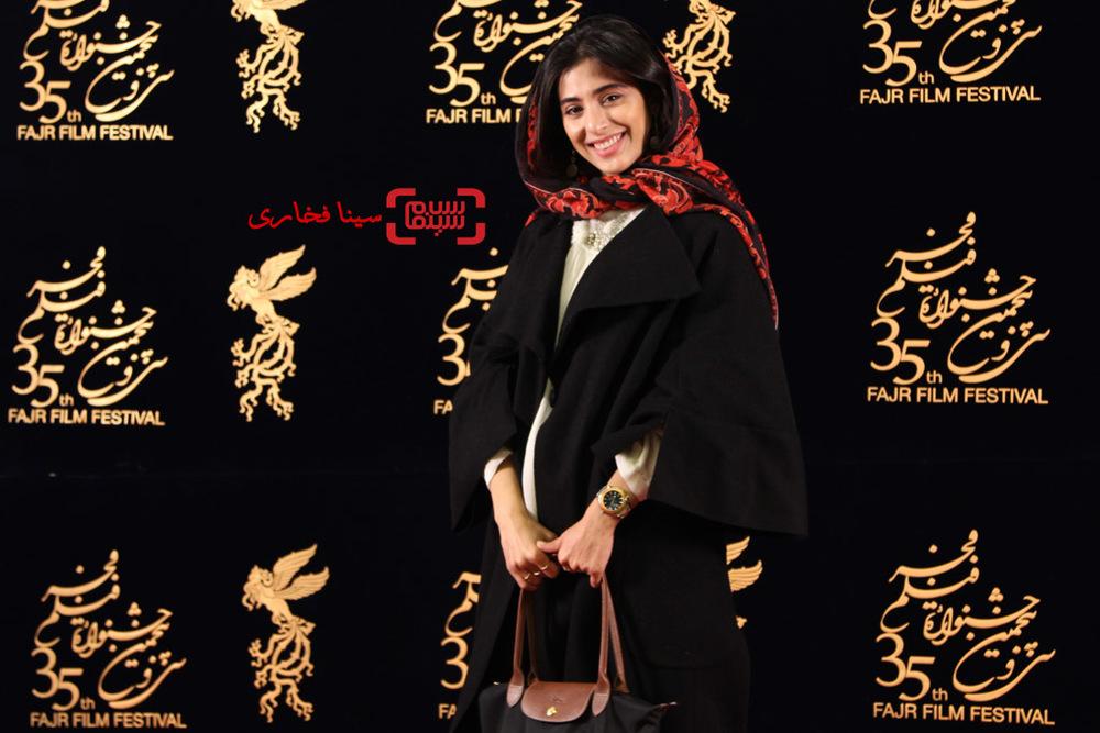 آناهیتا افشار در اکران فیلم «ویلایی ها» در سی و پنجمین جشنواره فیلم فجر