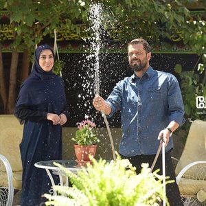 پژمان بازغی و نیلوفر شهیدی در سریال «مرضیه»