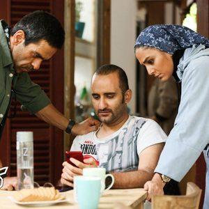هدی زین العابدین، پوریا رحیمی سام و بانیپال شومون در سریال «کرگدن»