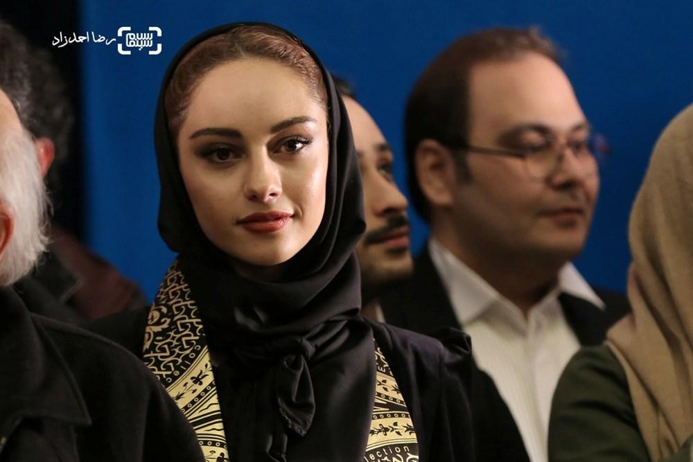 ترلان پروانه در اکران فیلم «فراری» در سی و پنجمین جشنواره فیلم فجر