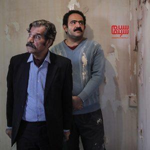 عزت اله مهرآوران و بهادر مالکی در سریال «زیر همکف»