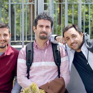 امیر کاظمی، هوتن شکیبا و امیرحسین رستمی در سریال تلویزیونی «فوق لیسانسه ها»