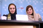 ترلان پروانه و سیما تیرانداز در نشست فیلم «فراری» در سی و پنجمین جشنواره فیلم فجر