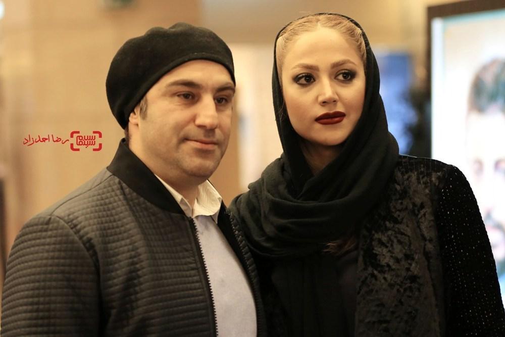 محسن تنابنده و همسرش در اکران فیلم «فراری» در سی و پنجمین جشنواره فیلم فجر