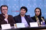 محسن تنابنده، ترلان پروانه و محسن گبرلو در نشست فیلم «فراری» در سی و پنجمین جشنواره فیلم فجر